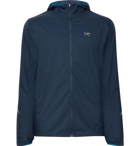 Arc'Teryx Incendo Mesh-Panelled Lumin Hooded Jacket In Navy