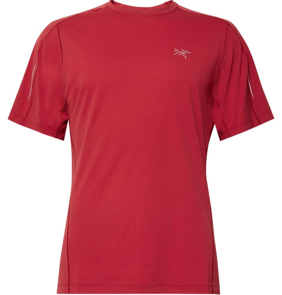 Motus Slim-fit Phasic Sl T-shirt - Claret