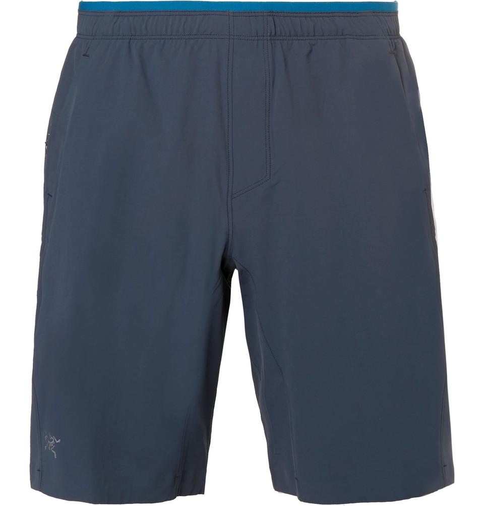 Aptin Stretch-shell Shorts - Navy