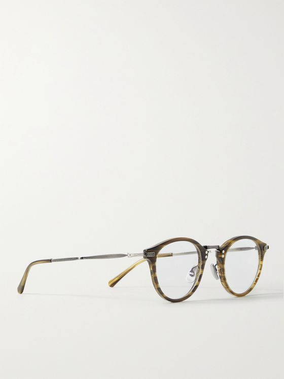 MR LEIGHT Stanley C Round-Frame Acetate and Gunmetal-Tone Optical Glasses