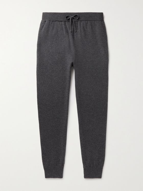 MR P. Slim-Fit Tapered Melangé Wool and Cashmere-Blend Sweatpants