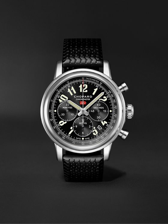 CHOPARD Mille Miglia Classic Chronograph Automatic 42mm Stainless Steel and Rubber Watch, Ref. No. 168589-3002