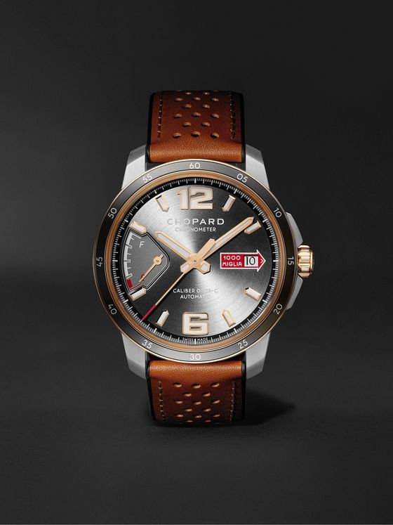 CHOPARD Mille Miglia GTS Power Control Limited Edition Automatic 43mm, 18-Karat Rose Gold, Stainless Steel and Leather Watch, Ref. No. 168566-6001