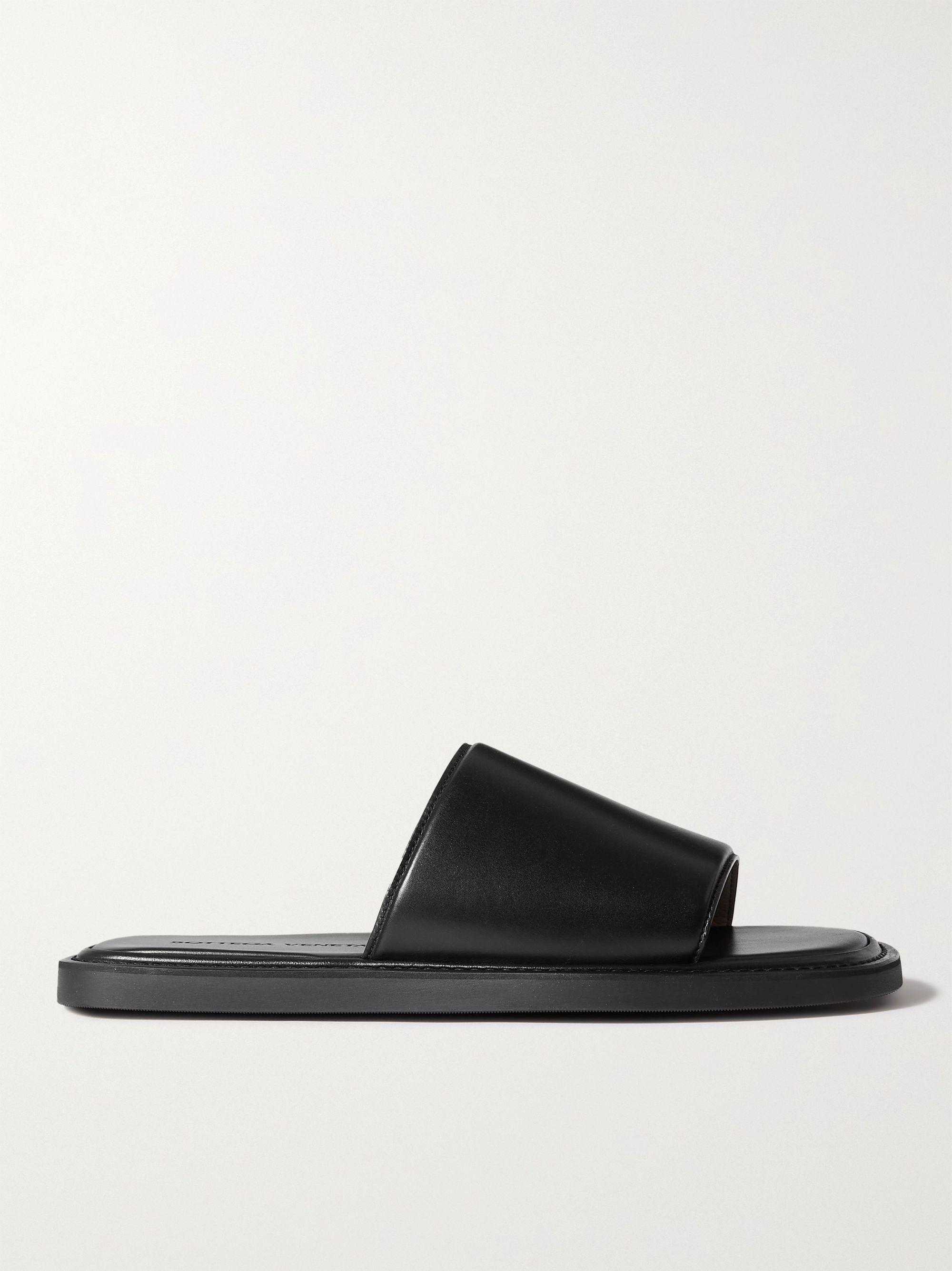보테가 베네타 Bottega Veneta Leather Slides,Black
