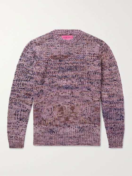 THE ELDER STATESMAN Paradise Mélange Cashmere Sweater