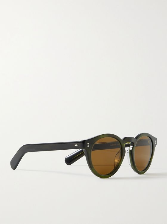 OLIVER PEOPLES Martineaux Round-Frame Acetate Sunglasses