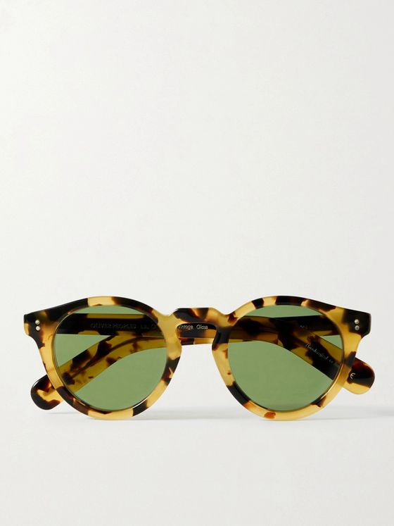 OLIVER PEOPLES Martineaux Round-Frame Tortoiseshell Acetate Sunglasses