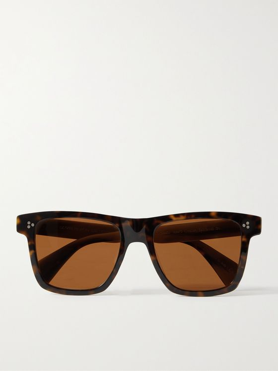 OLIVER PEOPLES Casian Square-Frame Tortoiseshell Acetate Sunglasses