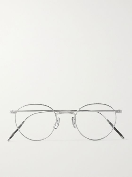 OLIVER PEOPLES TK-1 Round-Frame Titanium Optical Glasses