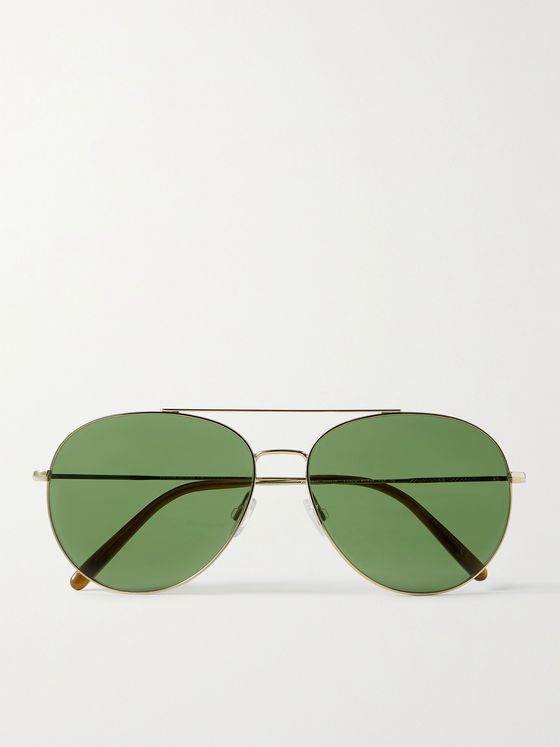 OLIVER PEOPLES Airdale Aviator-Style Gold-Tone and Tortoiseshell Acetate
