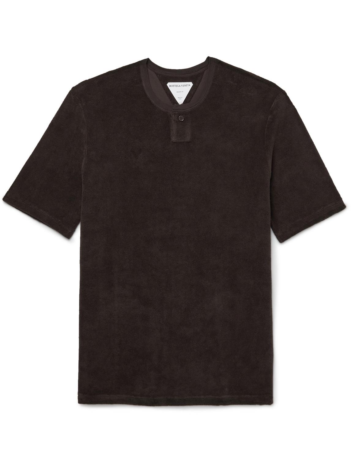 Bottega Veneta T-shirts SLIM-FIT COTTON-BLEND TERRY T-SHIRT