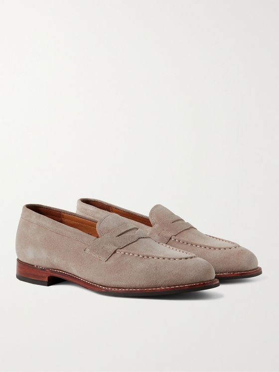 GRENSON Lloyd Suede Penny Loafers