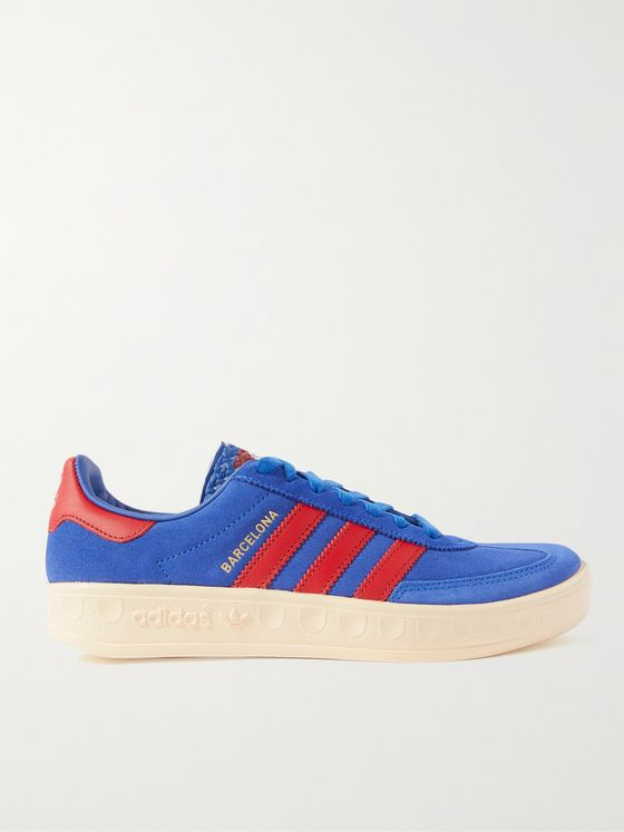 ADIDAS ORIGINALS Barcelona Leather-Trimmed Suede Sneakers