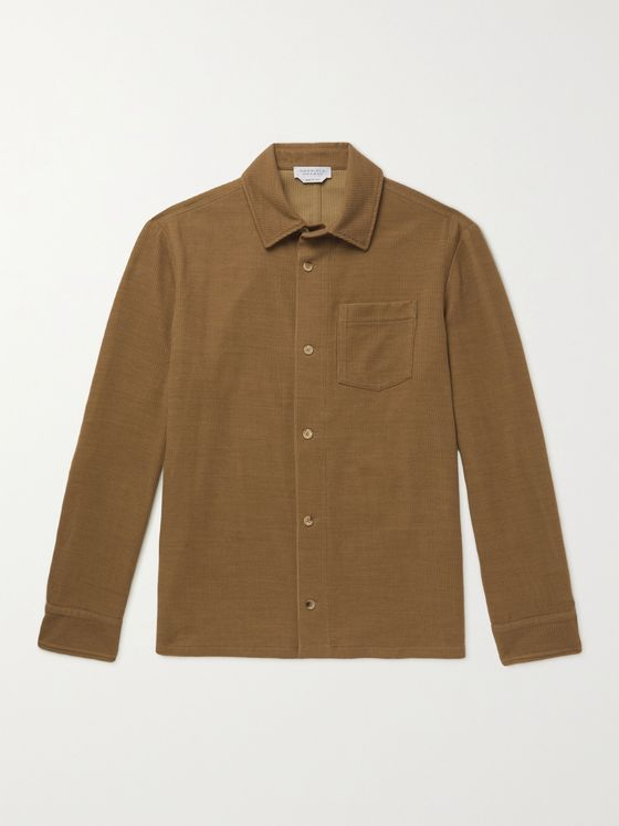 GABRIELA HEARST Drew Ribbed Cashmere Overshirt