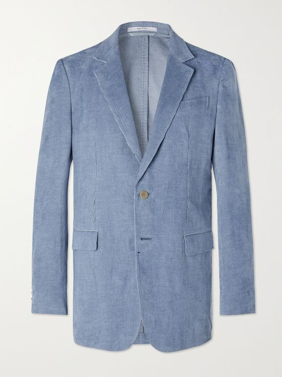 GABRIELA HEARST Miller Unstructured Linen and Cotton-Blend Needlecord Suit Jacket