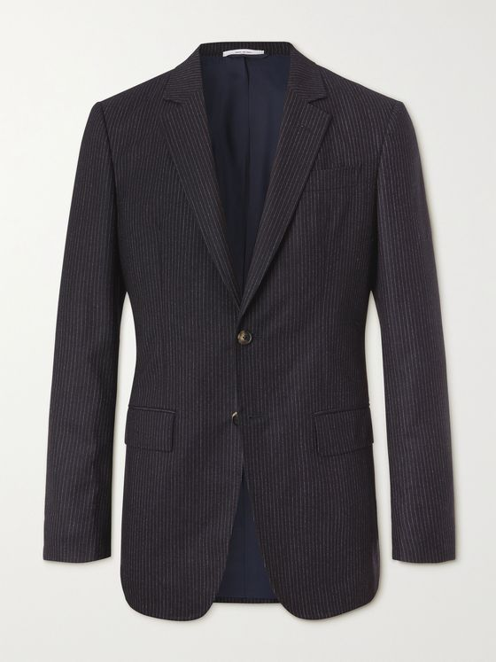 GABRIELA HEARST Irving Pinstriped Wool-Blend Suit Jacket