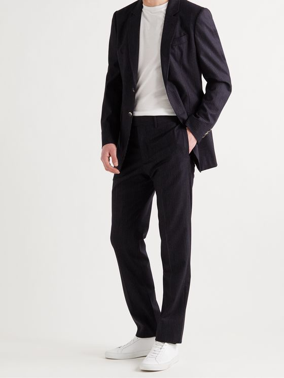 GABRIELA HEARST Ernest Pinstriped Wool-Blend Suit Trousers