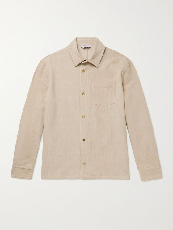 GABRIELA HEARST Drew Linen and Cotton-Blend Corduroy Overshirt