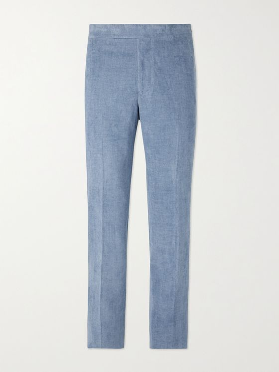 GABRIELA HEARST Sebastian Linen and Cotton-Blend Needlecord Suit Trousers