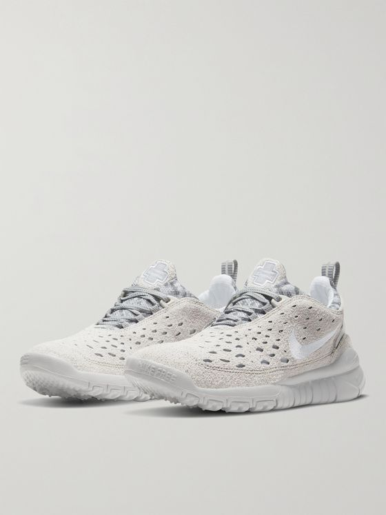 NIKE Free Run Trail Suede and Mesh Sneakers