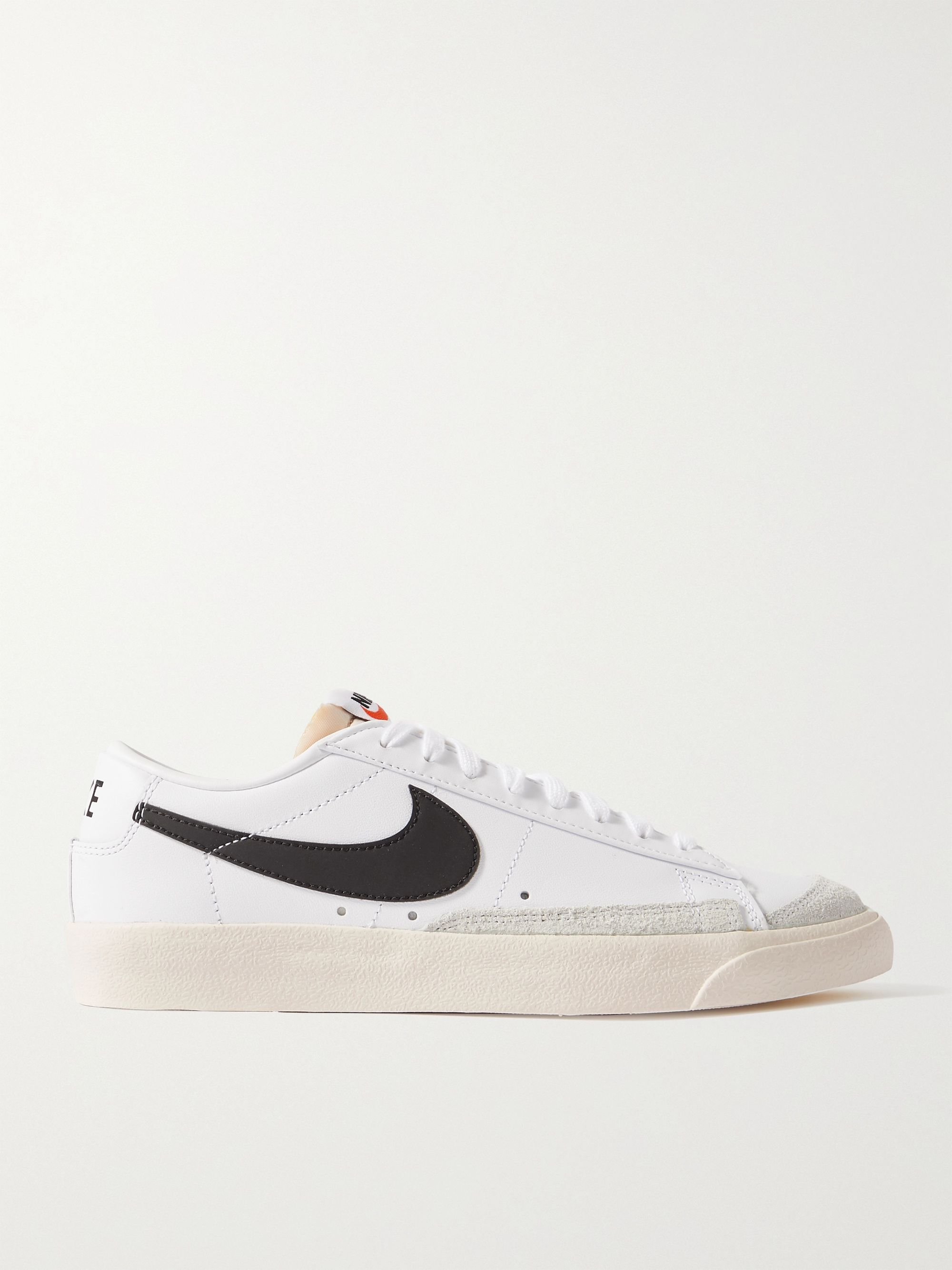 Blazer Low '77 Suede-Trimmed Leather Sneakers