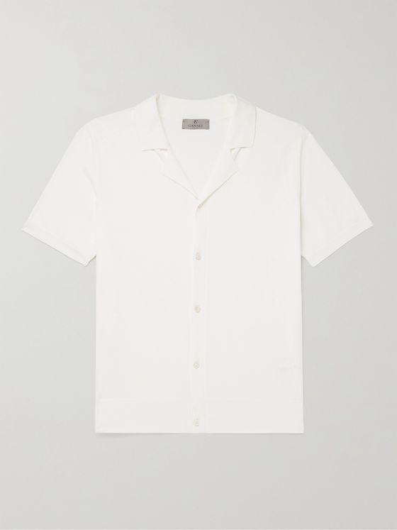 CANALI Camp-Collar Cotton Shirt