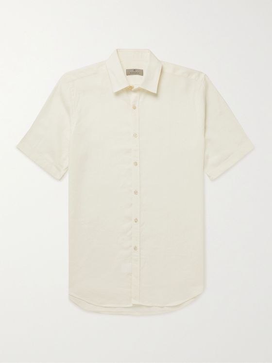 CANALI Linen and Lyocell-Blend Shirt