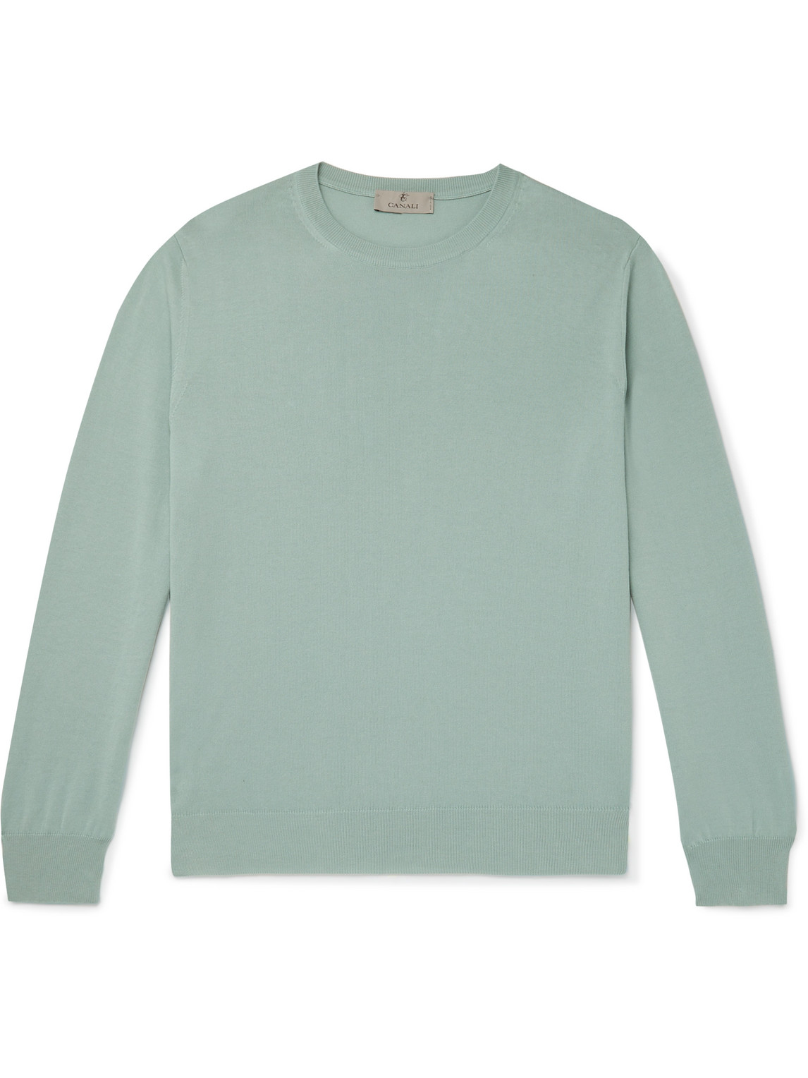 Canali Cottons SLIM-FIT COTTON SWEATER