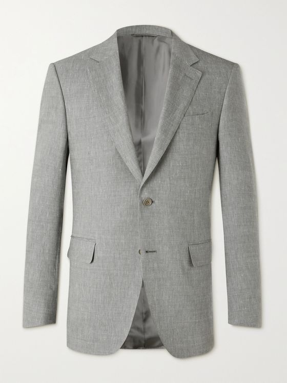 CANALI Linen and Wool-Blend Suit Jacket