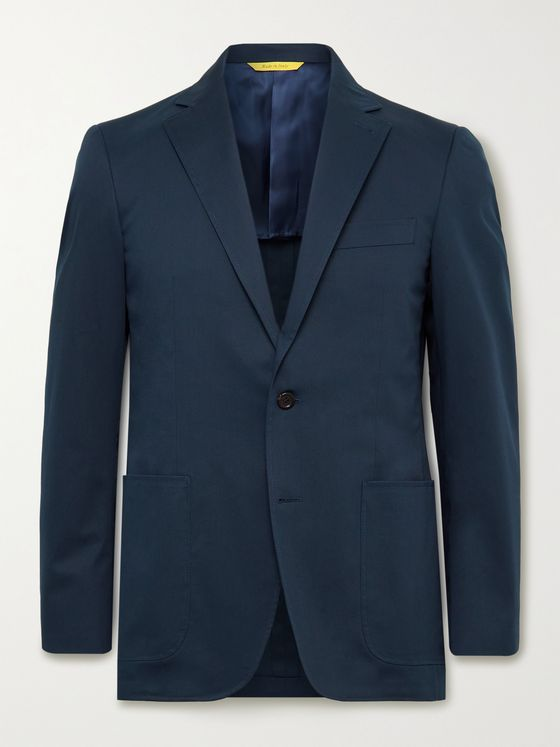 CANALI Kei Slim-Fit Cotton-Blend Twill Suit Jacket