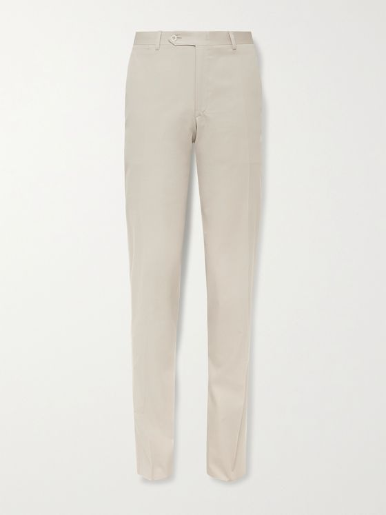 CANALI Slim-Fit Cotton-Blend Twill Suit Trousers