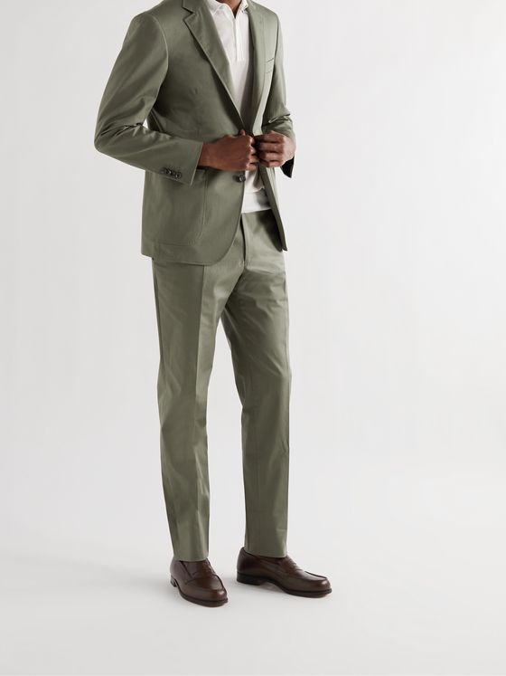 CANALI Kei Slim-Fit Stretch-Cotton Twill Suit Jacket