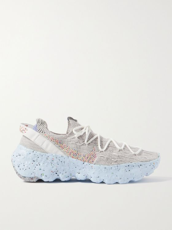 NIKE Space Hippie 04 Stretch-Knit Sneakers