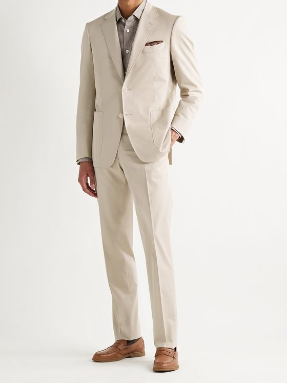 CANALI Slim-Fit Cotton-Blend Twill Suit Jacket