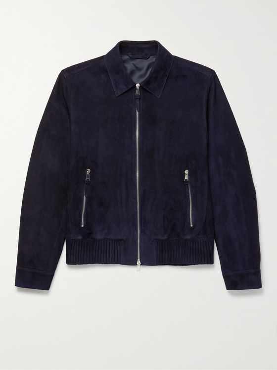 MR P. Suede Blouson Jacket