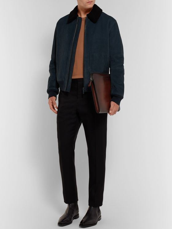Berluti Scritto Leather Zip-Around Portfolio