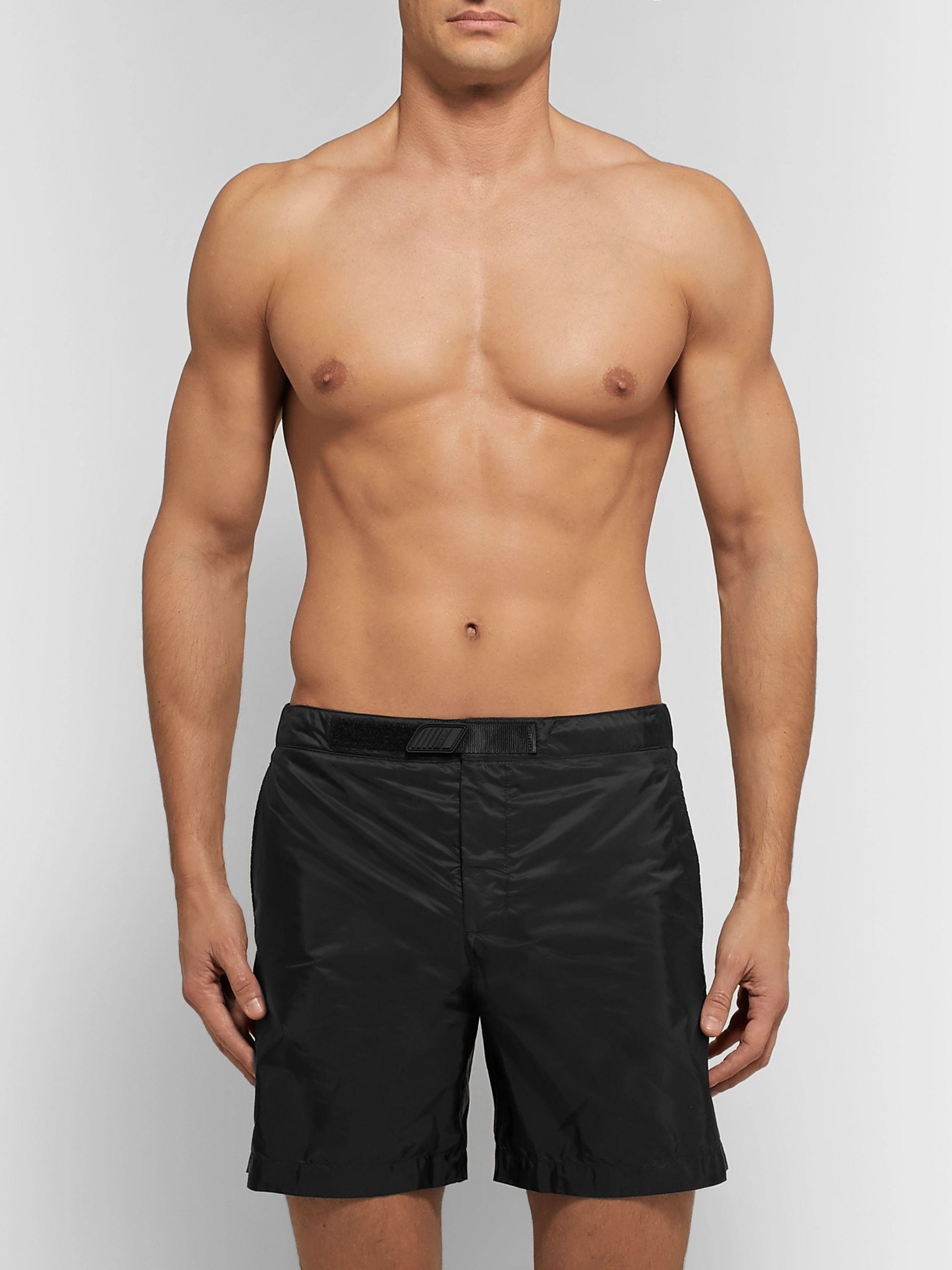 Prada Slim-Fit Mid-Length Swim Shorts