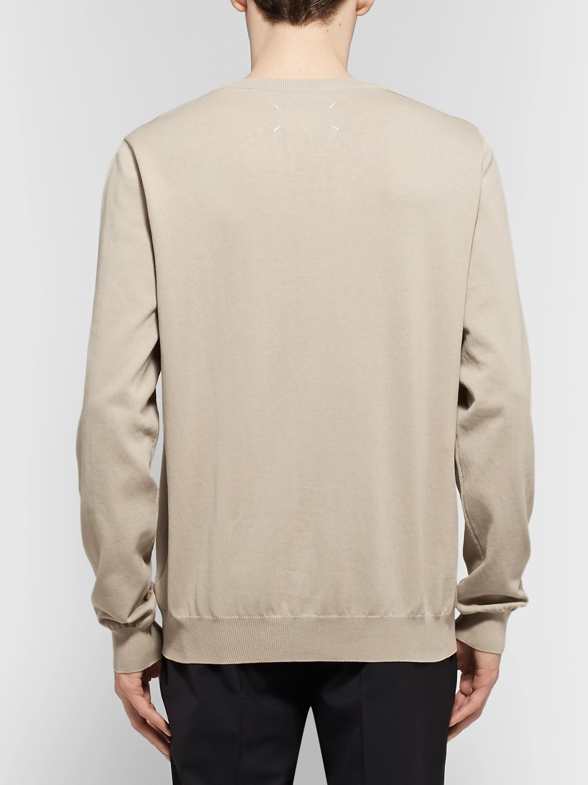 Maison Margiela Shell-Trimmed Cotton Sweater