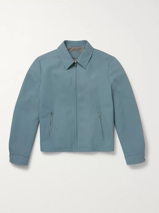 Prada Matte-Leather Blouson Jacket
