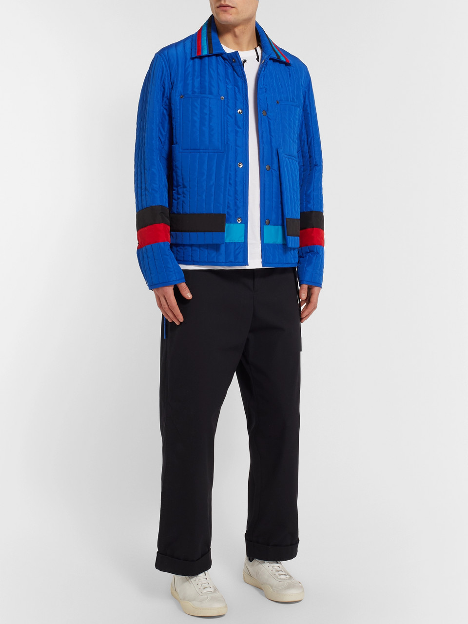 Craig Green Striped Quilted Shell Jacket