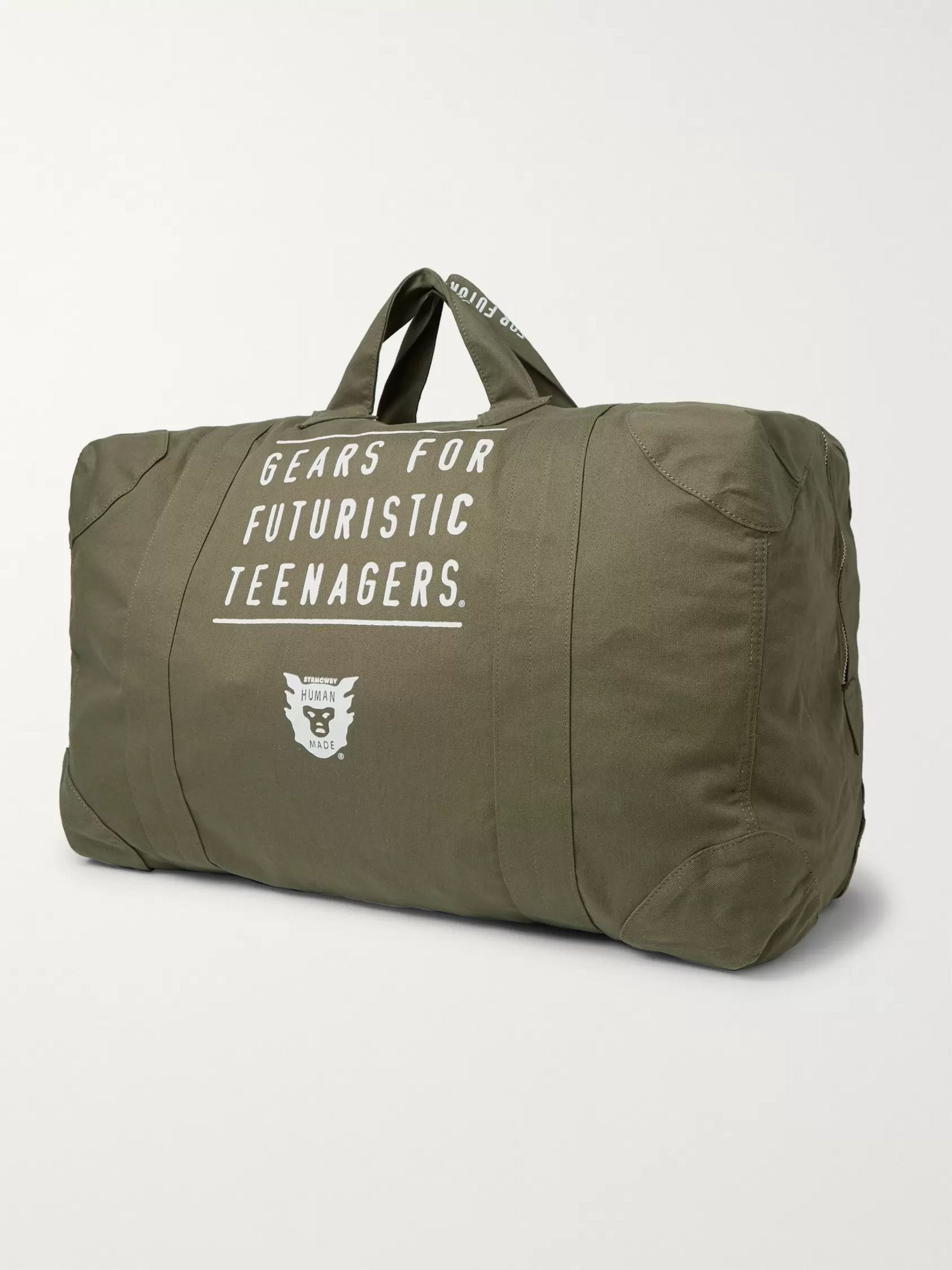Human Made Printed Cotton-Canvas Holdall