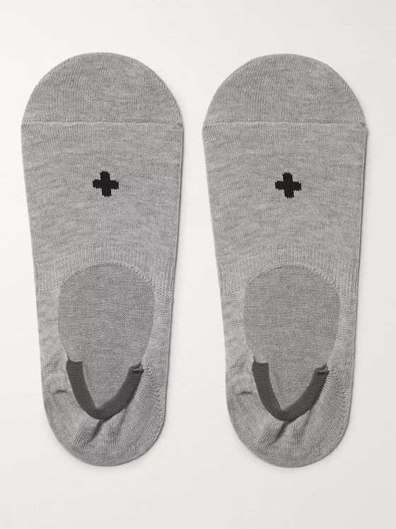 Beams Plus Cotton-Blend No-Show Socks
