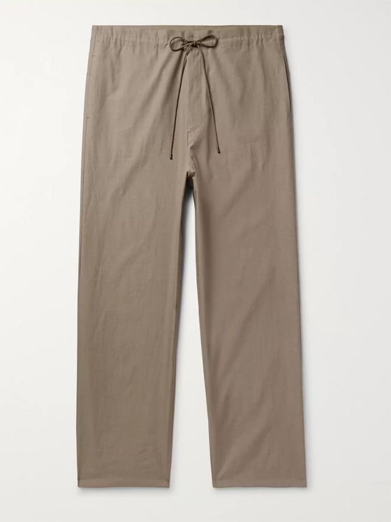 Auralee Wide-Leg Cotton-Twill Trousers