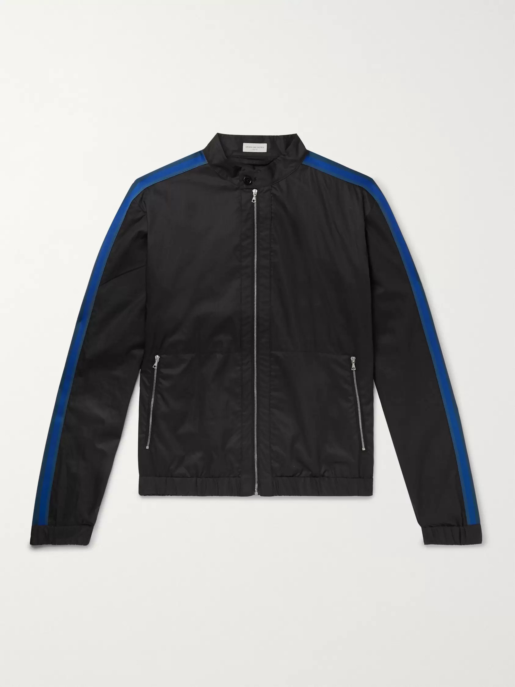 Dries Van Noten Webbing-Trimmed Cotton Track Jacket