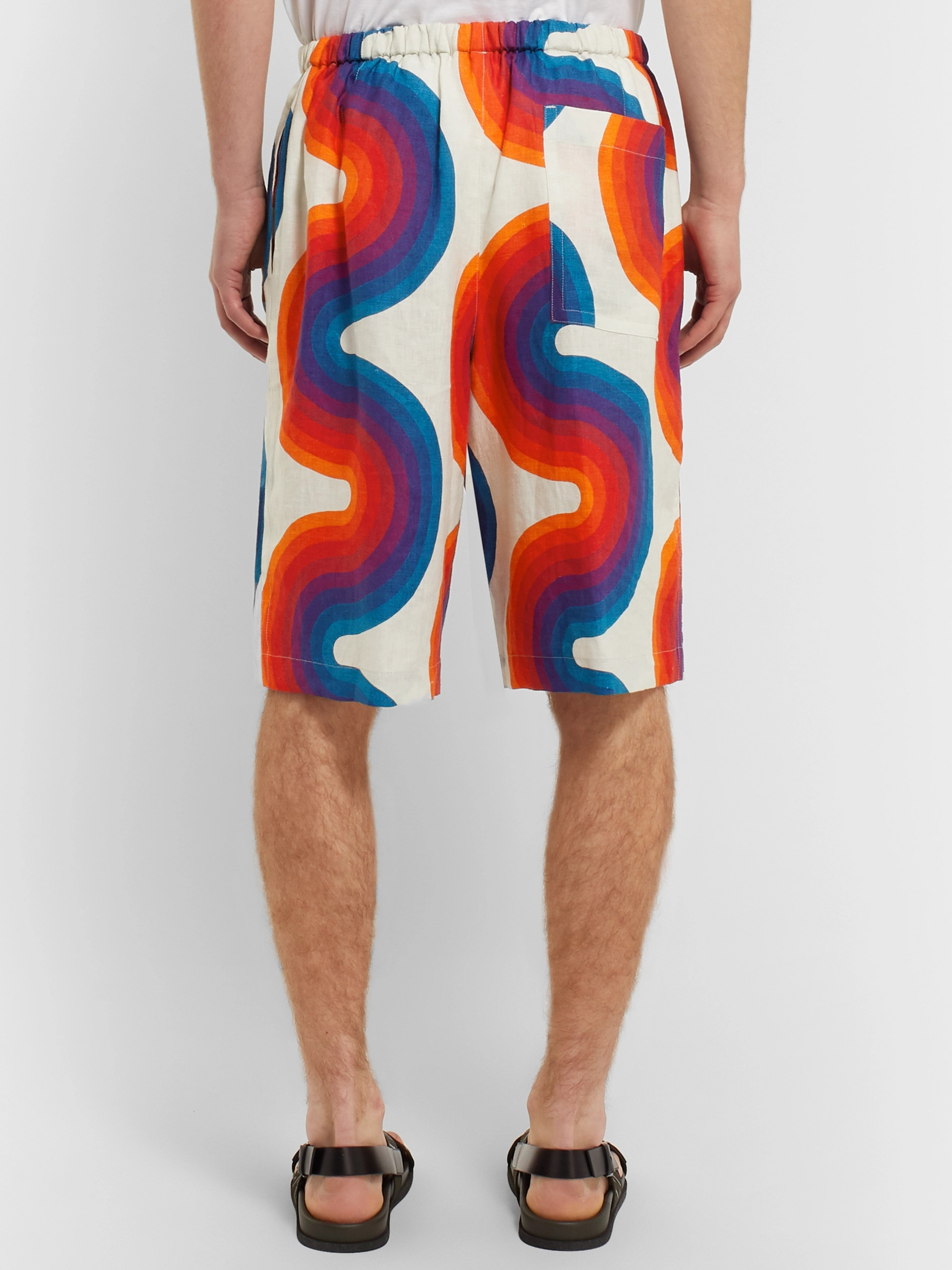 Dries Van Noten Printed Linen Shorts