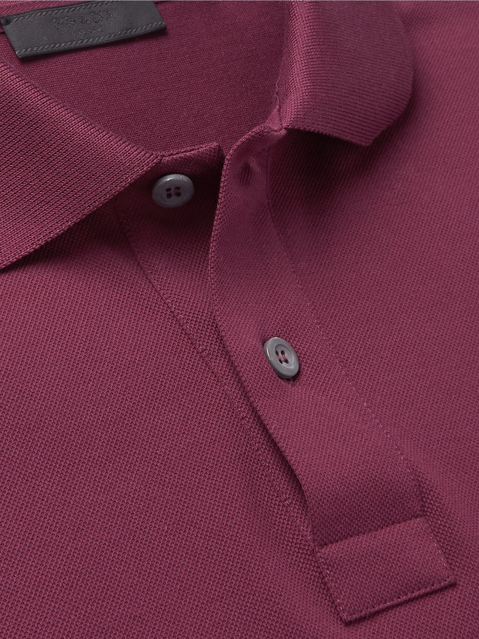 Prada Logo-Appliquéd Cotton-Piqué Polo Shirt