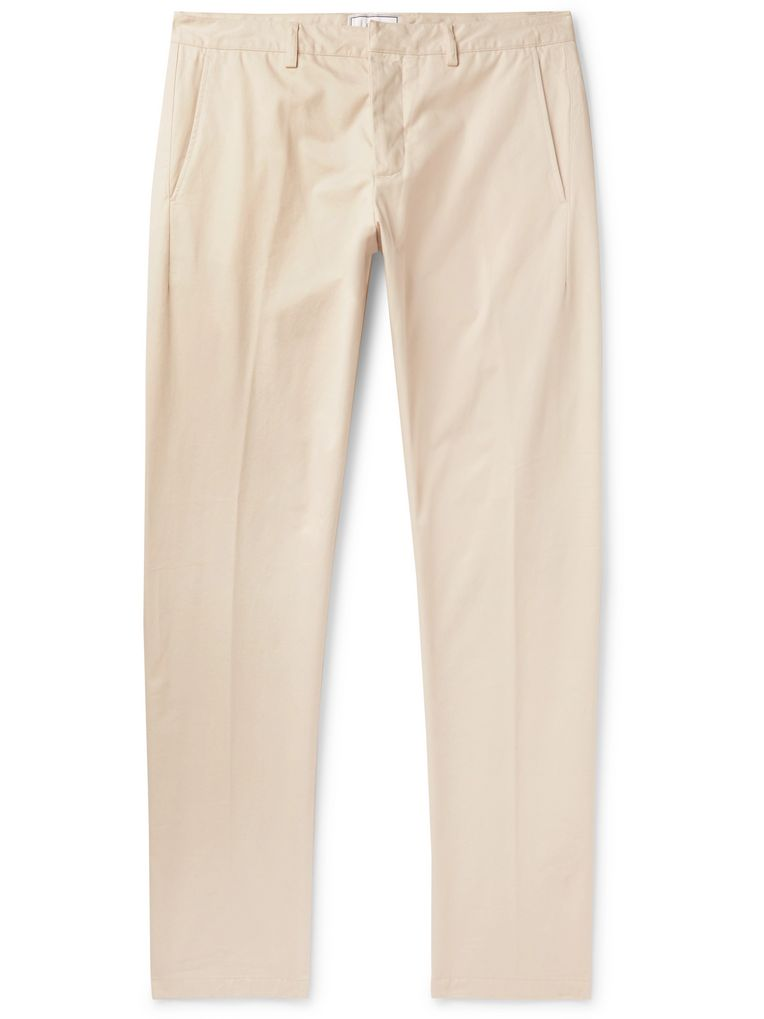 AMI Tapered Cotton-Twill Trousers