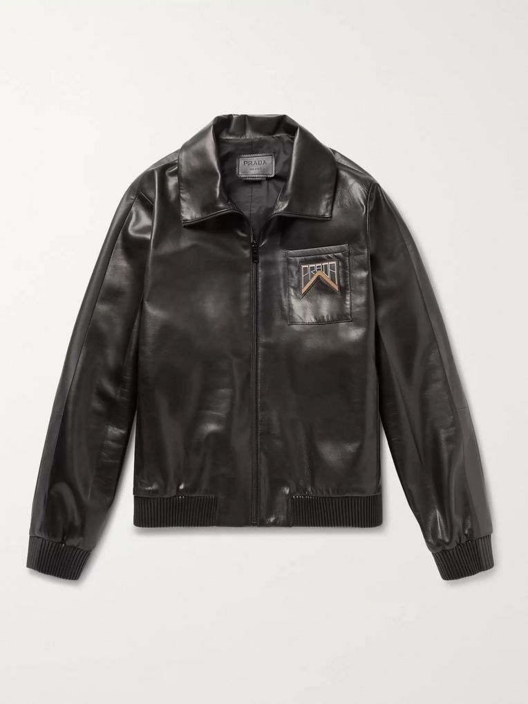 Prada Leather Blouson Jacket