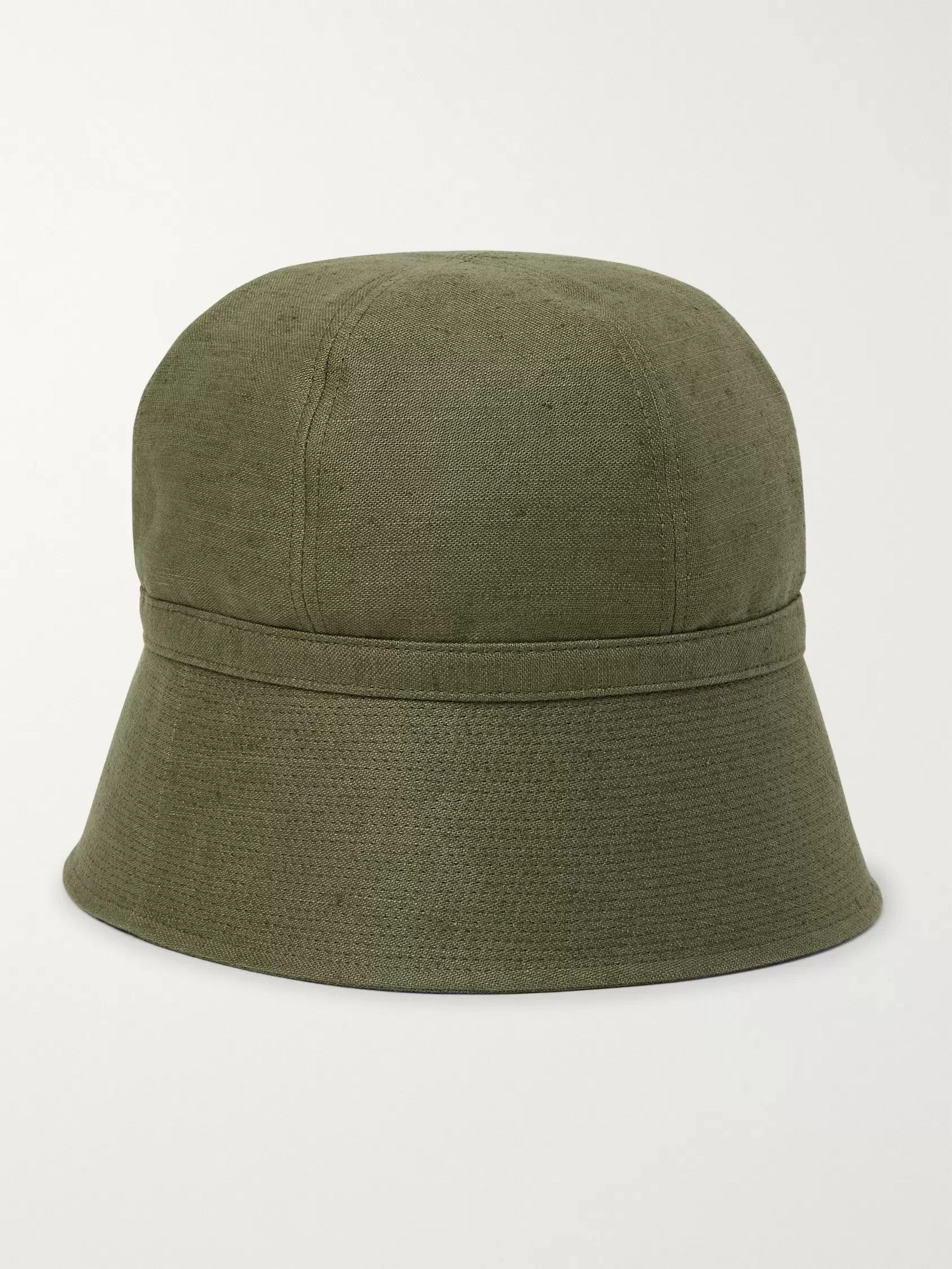 Needles Slub Linen and Cotton-Blend Bucket Hat