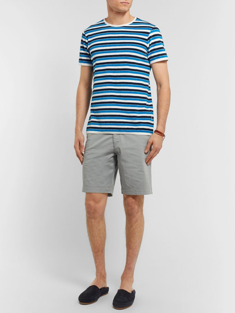 Orlebar Brown Striped Cotton-Terry T-Shirt